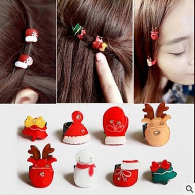 - Japan and South Korea hair accessories fashion Chrisas snowman trumpet gripper bangs hairpin circle withholding for women girl lady