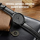 BOLISI Men's Women's Watches Ultra-Thin Classic Analog Quartz Watch Japanese Movement Watch with Milanese Mesh Band or Leather Band