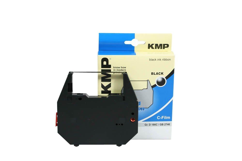 KMP PrintTechnik - Nastro a inchiostro 186C per Nakajima AX 200, nero 1862101