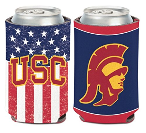 Usc Trojans Tailgate Flag (WinCraft NCAA USC Trojans USA Flag 1 Pack 12 oz. 2-Sided Can Cooler)