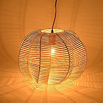 BGTJZY Modern LED Pendant Chandelier Ceiling Lighting Fixture for Living Room Bedroom Dining Room Rattan Natural Finish Pendant Lights