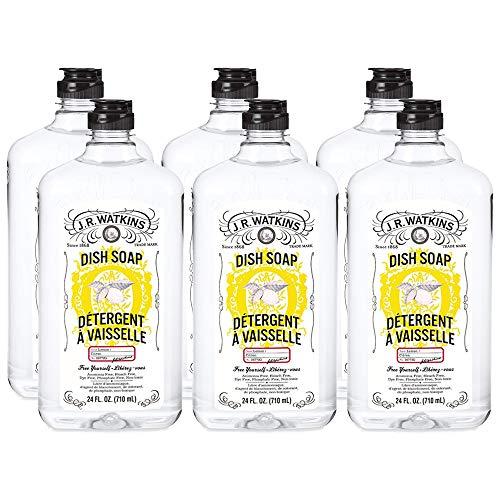 J.R. Watkins Dish Soap, Liquid, 24 fl oz, Lemon (6 pack) (Make Your Own Eco Washing Up Liquid)