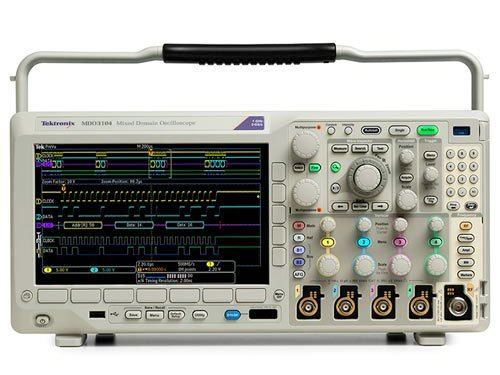 Tektronix MDO3104 1 GHz Mixed Domain Oscilloscope, 4 Analog Channels and 1 GHz Spectrum (1 Ghz Channel)