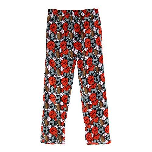 Pajama Boys Pants Fleece (Boyz Club Boy's Coral Fleece Lounge Pajama Pants, Medium 7, Sports)