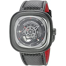 SEVENFRIDAY Men's P3-1 RACER Analog Display Japanese Automatic Black Watch
