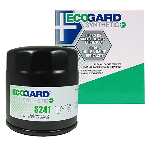 ECOGARD S241 Spin-On Engine Oil Filter for Synthetic Oil - Premium Replacement Fits Toyota Tacoma, 4Runner, Sienna, Tundra, Pickup, Camry, Highlander, Avalon, Corolla, Sequoia, Solara, FJ (1983 Chrysler E Class Engine)