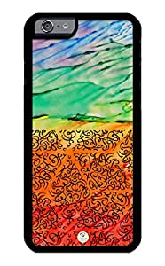 iZERCASE iPhone 6 PLUS Case Seamlees Pattern on Abstract Hand Painted RUBBER CASE - Fits iPhone 6 PLUS T-Mobile, Verizon, AT&T, Sprint and International