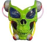 Rubie 's Disfraz Alien Light-Up Máscara de calavera, color Verde, talla Una talla
