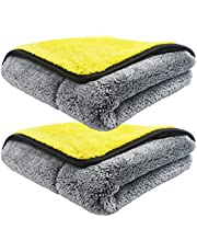 Extra Thick Microfiber Cleaning Cloth, 30*60cm Absorbent Soft Reusable Micro Fiber Towel for Car House Kitchen Window, 2pcs