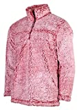 Boxercraft Adult Super Soft 1/4 Zip Sherpa Pullover-Snowy Garnet-medium