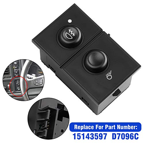 2005 Oem Fog Lights - Linkstyle Fog Light Switch Cargo Lamp Switch - Replaces OEM# D7096C 15143597, Fit for 2003-2007 GMC Sierra 1500 2500 3500, 2003-2007 Chevrolet Silverado 1500 2500 3500, 2003-2006 Cadillac Escalade EXT