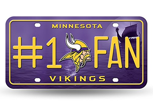 ikings #1 Fan Metal License Plate Tag (Minnesota License Plate Tag)