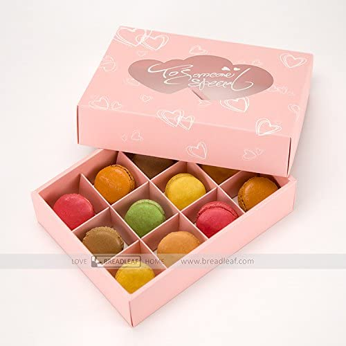 Astra Gourmet rosa Macaron cajas/caja de galletas/chocolate Box/caja de regalo, para 12 Macarons (Pack de 3): Amazon.es: Hogar