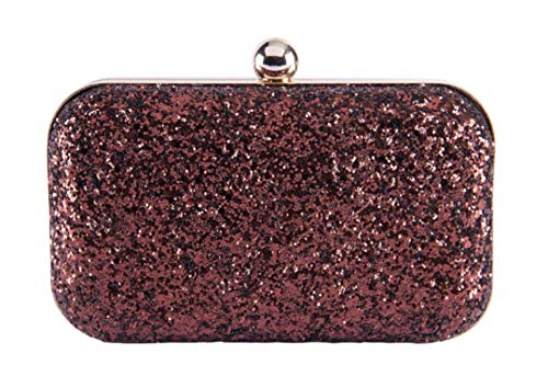 Tooba Handicraft Party Wear Hand Bling Glitter Box Clutch Bag Purse For Bridal, Casual, Party, Wedding(Multi Colors)