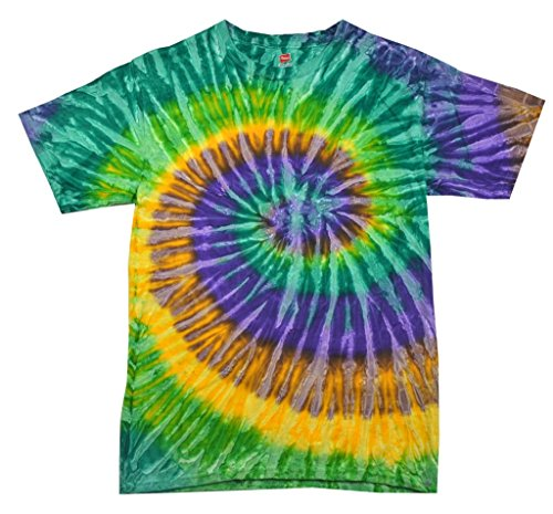 100% Cotton Colorful Tie Dye Vibrant Shirt, Mardi Gras, 4XL ()