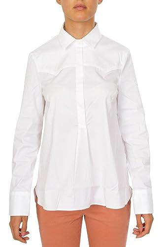 BRUNELLO CUCINELLI Blusa Mujer Blanco Algodón Normal Casual M IT