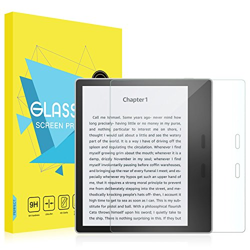 MoKo All-New Kindle Oasis Screen Protector (9th Gen - 2017 Release) - [Scratch Terminator] Premium HD Clear 9H Hardness Tempered Glass Tablet Screen Protector Film for Amazon Kindle Oasis 7 E-reader
