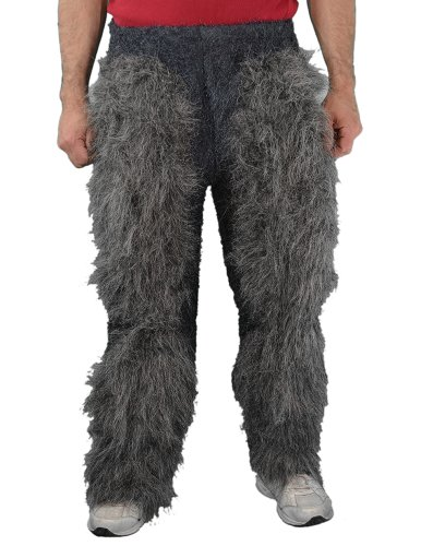 [Zagone Beast Legs Grey Faux Fur, Light Weight] (Satyr Halloween Costumes)