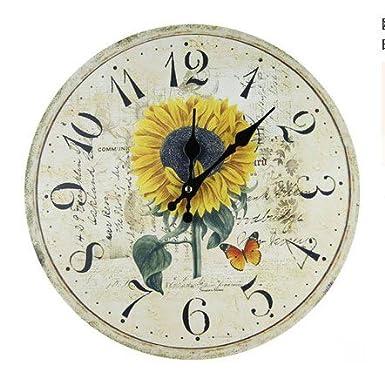 "13,5 ""(340 mm) US país reloj de pared, girasol"