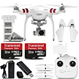 DJI Phantom 3 Standard with 2.7K Camera and 3-Axis Gimbal. Ultra Saving Kit Includes: 2 Pieces of 32GB High Speed Memory Card + Card Reader + Deluxe Cleaning Kit