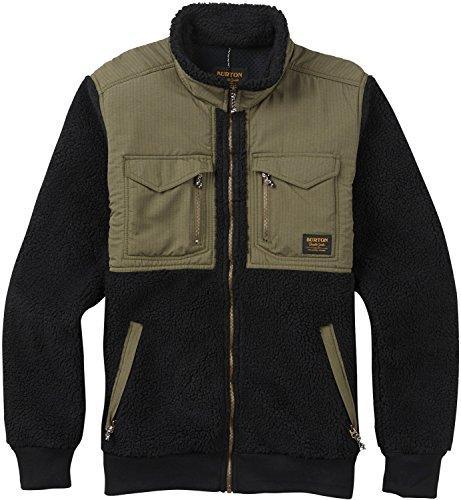 Burton Bower Full-Zip Fleece, True Black, Large