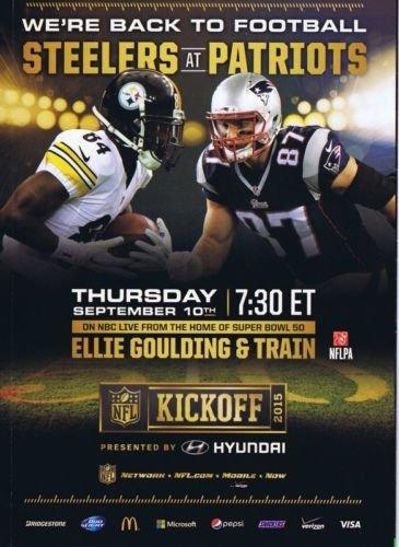 2015 NFL Kickoff Brochure Antonio Brown Rob Gronkowski Ellie Goulding