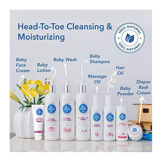 The Moms Co. Tear-Free Natural Baby Wash with Calendula, Avodado Oils and USDA-Certified Organic Oils Like Argan