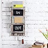 MyGift Rustic Wood Wall-Mounted 2-Slot Mail