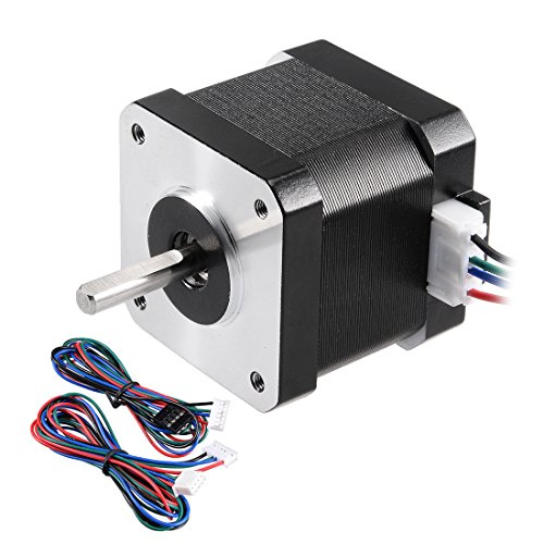 uxcell Stepper Motor Nema 17 Bipolar 20mm/10mm 0.38NM 1.7A 4.9V 4 Lead Cables for 3D Printer CNC Router Laser Lathe Machine Stage Light Control DIY Hobby