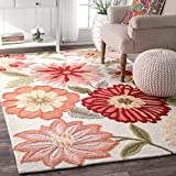 nuLOOM Springs Hand Tufted Area Rug, 5' x 8', Pink