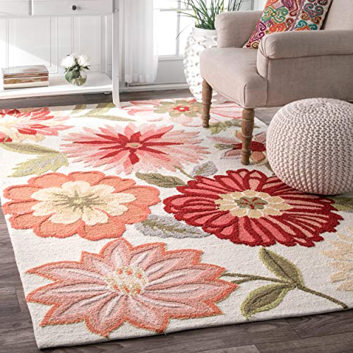 nuLOOM Palm Springs Hand Tufted Area Rug, 6 x 9 , Pink