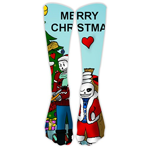 Undertale Christmas Christmas Unisex Family High Knee Stocking Original Design Long Sock