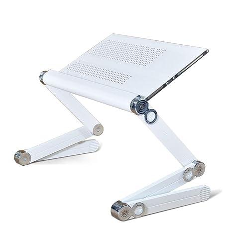 ZOUQILAI Cojín de enfriamiento Plegable de Aluminio portátil del Cuaderno del Escritorio del Cuaderno de la Tabla del Ordenador ...