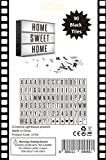 90 ADDITIONAL BLACK LETTERS, Numbers and Symbols for your Cinematic Light Box. Extra letters mean extra fun for your wedding party decoration, vintage home feature or any promotional display sign.