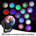 [Newest Version] Delicacy Disco Ball Party Lights Sound Activated Ocean Wave LED Strobe Light,15 Colors DJ Lights with Remote Control for Home Parties Birthday Wedding Club [2-Pack] by Shenzhen DELICACY Technology Co.,Ltd