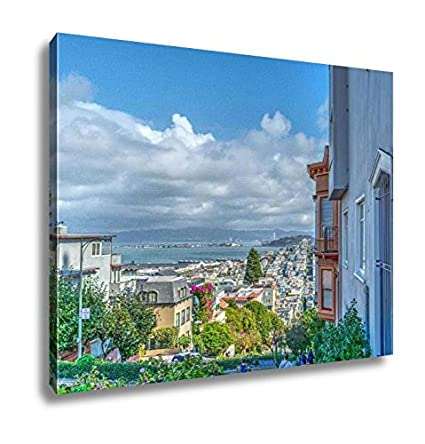 Ashley Canvas Lombard Street In San Francisco, Wall Art Home Decor, Ready  To Hang