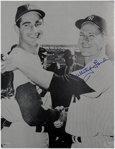 Whitey Ford Hand Signed Autograph 11X14 Photo Sandy Koufax Yankees OA JSA -