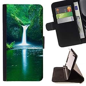 Momo Phone Case / Flip Funda de Cuero Case Cover - Naturaleza Falls Beautiful Waterfalls - LG G3