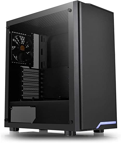 Thermaltake H100 TG ATX Mid Tower Chassis, Negro: Thermaltak: Amazon.es: Informática