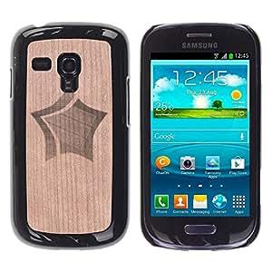 // MECELL CITY PRESENT // Cool Funda Cubierta Madera de cereza Duro PC Teléfono Estuche / Hard Case for Samsung Galaxy S3 MINI 8190 /// Star Clipart Design Style Pretty ///