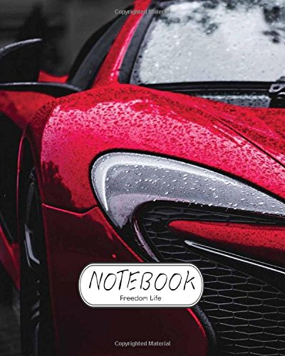 """Download Notebook: Red Sport Car : Notebook Journal Diary, 110 Lined pages, 8"""" x 10"""" pdf"""