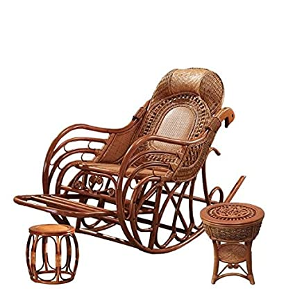 Magnificent Amazon Com Natural Bamboo Rattan Wicker Rocker Set Spiritservingveterans Wood Chair Design Ideas Spiritservingveteransorg