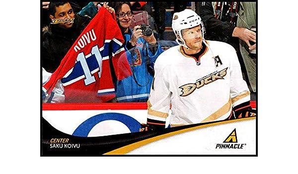 6526c17a4 Amazon.com  2011-12 Panini Pinnacle  11 Saku Koivu NM-MT Anaheim Ducks  Official NHL Hockey Card  Collectibles   Fine Art