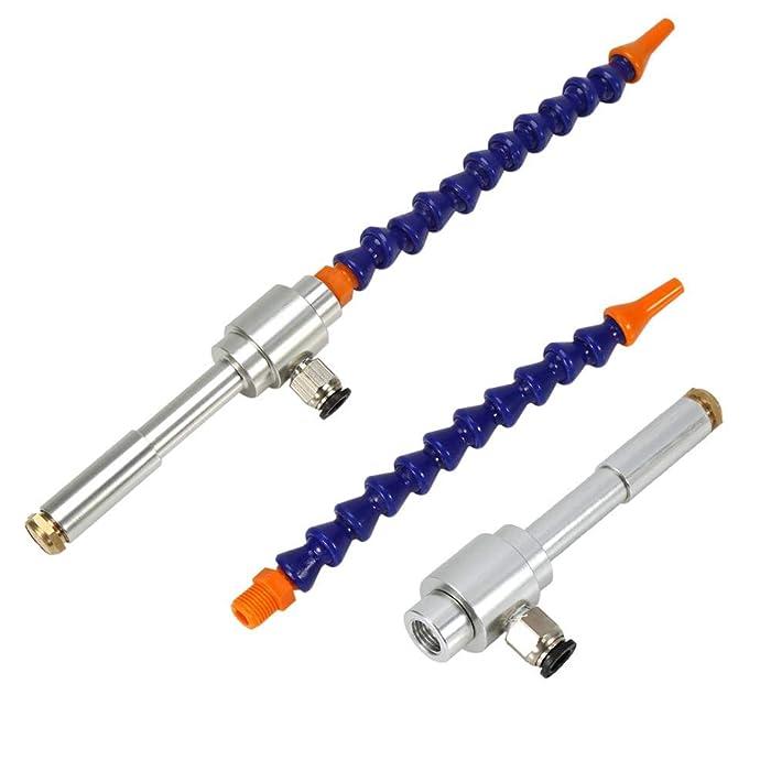 Cold Air Gun With Flexible Tube, Aluminum Alloy Mechanical Process Mini Vortex Cold Air Dry Cooling Gun + Flexible Tube
