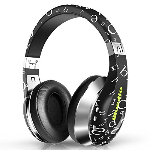 Bluedio A(Air) Twistable Headset Stereo Wireless Bluetooth4.1 Headphone, Live in/ Live out, comfortable earcups, foldable & adjustable headband (Black)