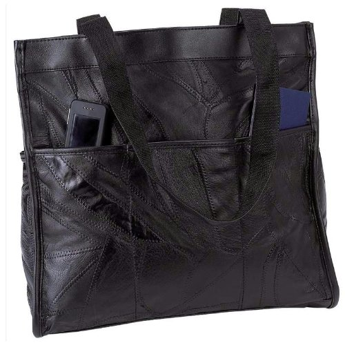 Leather Embassy Handbag Italian - Embassy Italian Stone Design Genuine Leather Shopping/Travel Bag