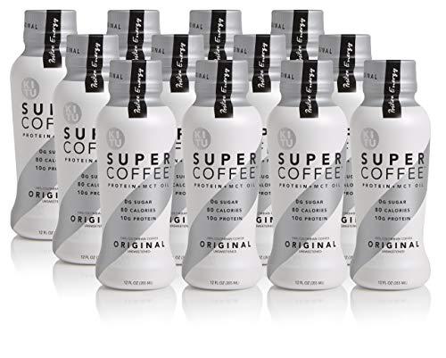 Kitu by Sunniva Super Coffee Original Sugar-Free Formula, 10g Protein, Keto Approved, Lactose Free, Soy Free, Gluten Free, Case of 12 ()