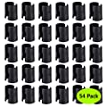 """Wire Shelving Shelf Lock Clips for 1"""" Diameter Post- Shelving Sleeves, 54-Pack Wire Shelf Clips, Fits with Metro, Thunder Group, Alera, Honey Can Do, Eagle, Regency, Winco,Advanced Tabco,and More"""