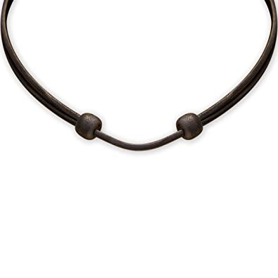 62350d69fe35a5 HANA LIMA ® Lederkette Lederband schwarz verstellbar Halskette Leder  Surferkette