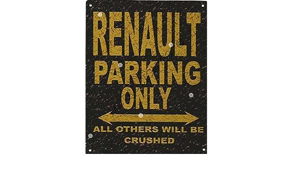8 x 10in Renault señal de aparcamiento estilo rústico 8 x 10in 20 X 25 CM coche cobertizo Tin garaje taller Arte de Pared: Amazon.es: Hogar